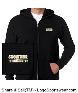 ShowEntTheMvmnt Black Men's Full-Zip Hooded Sweatshirt Design Zoom