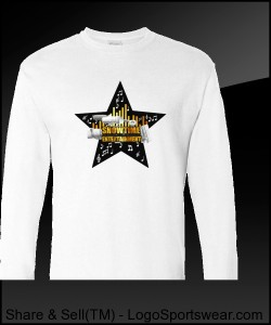ShowEntTheMvmnt White Men's Long Sleeve Tee Design Zoom