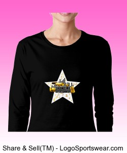 ShowEntTheMvmnt Black Women's Long Sleeve Tee Design Zoom