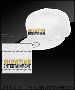 ShowEntTheMvmnt White Snapback Design Zoom