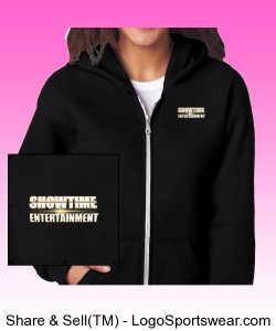 ShowEntTheMvmnt Black Women's Full-Zip Hooded Sweatshirt Design Zoom